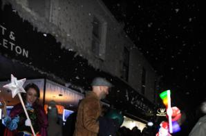 Leigh Christmas lights switch on draws in the crowds