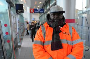Security guards patrolling bus station to deter rough sleepers